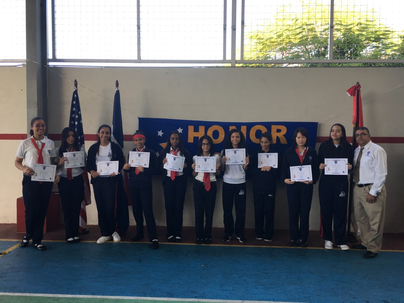 Honor  Roll  first semester 2016-2017